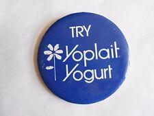 Vintage Try Yoplait Yogurt Food Advertising Pinback Button
