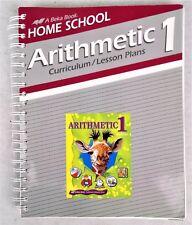 A Beka Home School Arithmetic 1 Curriculum Lesson Plans 2004 Christian Math Text