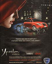Publicité Advertising  2010  LANCIA YPSILON   Y 1.2 60 ch  8v   la fashion car