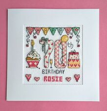 Happy 70th Birthday cross stitch card kit