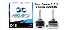 2 x Xenon Brenner D1S Mercedes E-Klasse W212 S212 Lampen Birnen E-Zulassung