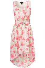 New Topshop Blossom Print Dress UK 12 EUR 40 Hi Lo Dip Hem Pink Chiffon Wedding