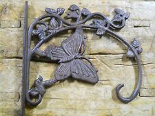 Cast Iron Victorian Style Butterfly Plant Hook Garden Hanger Wall Barn Fence