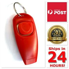 Dog Training Clicker & Whistle Click Trainer Obedience AUS Seller RED COLOR NEW