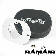 RAMAIR Carb Air Filters With Baseplate Pierburg 2E2/2E3/2E-E 100mm Bolt On