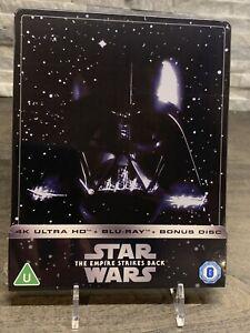 Star Wars The Empire Strikes Back 4k Steelbook Blu-ray Region Free Zavvi Soldout