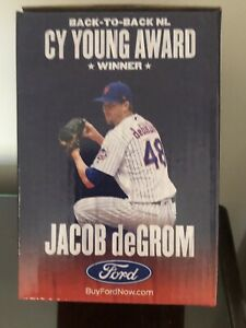 NEW YORK METS JACOB deGROM BOBBLEHEAD BACK TO BACK CY YOUNG NEW IN BOX