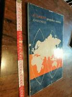 LIBRO-ATLANTE GEOGRAFICO SINTETICO ZANICHELLI 1958