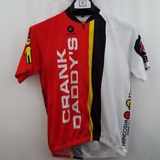 Pactimo Cycling Jersey Men s S Red White Bike 3 Pocket Crank Daddy s 4830d6a35