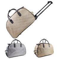 Ladies Travel Bag Holdall Hand Luggage Womens Weekend Handbag Wheeled Trolley UK