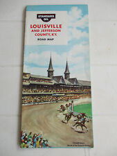 Ancienne carte routière USA Louisville Standard Oil 1961 Esso / Mobil Supertest