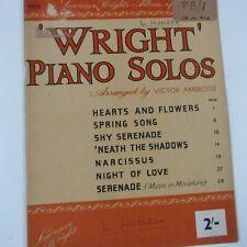 piano WRIGHT' PIANO SOLOS arr Victor Ambroise
