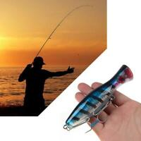 Big Mouth-Popper Lure Top Water Fishing Lure 120mm/40g Big Game Trolling Ba Y6L4