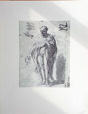 Portrait d'Henry MONNIER d'Honoré DAUMIER 1808-1879 Dessin Imprimé 197 x 270 mm