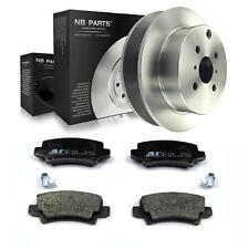 2x Brake Disc + Brake Pads Rear Toyota Corolla E12 Notchback