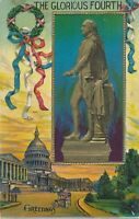 The Glorious Fourth Washington Statue July 4th Patriotic Postcard - 1911
