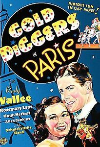 Gold Diggers In Paris - Rudy Vallee  New and Sealed  DVD