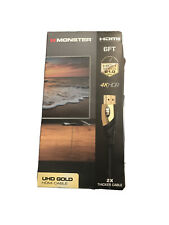 Monster HDMI High Speed 21.0 Gbps 4KHDR UHD Gold 6ft Cable Certified Premium
