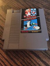Super Mario Bros. / Duck Hunt Original Nintendo NES Nice Cart Works PC5