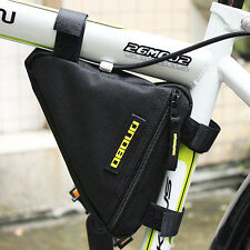 Triangle Bicycle Cycling Bike Riding Bag Pouch, Connects to Frame, Tools Wallets