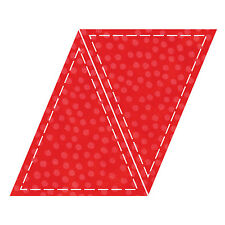 "AccuQuilt GO! Triangle-Isosceles-5""x6"" Fabric Cutting Die 55016 Quilting Sewing"