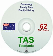 Family History Tree Genealogy Tasmania old books DVD