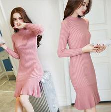 new Autumn winter Korean fashion shitsuke knitting cashmere Ms. sweater dress