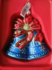 Marquis by WATERFORD Blown Glass 2011 Our 1st Christmas Wedding Bells Ornament