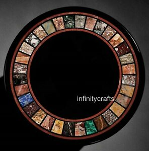 18 Inch Marble Coffee Table Top Mosaic Art Corner Table for Home Decor Furniture