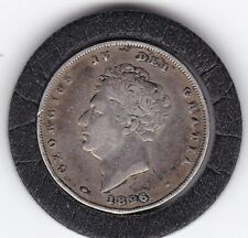 1826   King  George   IV  Sterling  Silver  Shilling  British Coin