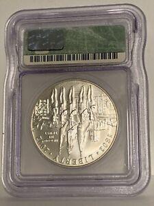 2002 W West Point Bicentennial Silver Dollar ICG - MS 67