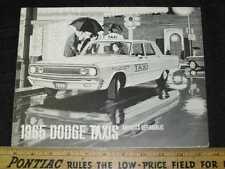 1965 Dodge Taxi Folder Sales Brochure