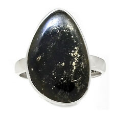 Schiefer Mit Pyrite, German 925 Sterling Silver Ring Jewelry s.9.5 RR178486