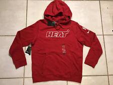 NWT NIKE Miami Heat RED Sweater Hoodie Men's Large