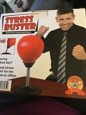 Stress Buster Desktop Punching Ball Super Strong Suction Cup, Pump Included
