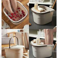 Portable Foot Bath Bucket Massage Spa Tub Nail Toes Pedicure Fatigue+Cover Us