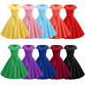 Women Retro 50s 60s Housewife Rockabilly Pin Up Party Dress Swing Skater Dresses