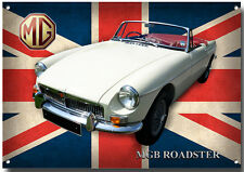 MGB ROADSTER METAL SIGN.(A3) SIZE,HIGH GLOSS FINISH.VINTAGE/CLASSIC MG CARS.