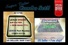 Engine & Carbonized Cabin Air Filter for NEW LEXUS GS350 GS430 IS250 IS350 @_@