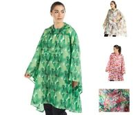 WOMEN'S ONE EARTH WATERPROOF PRINTED PONCHO - VARIOUS PRINT - ONE SIZE **NEW**