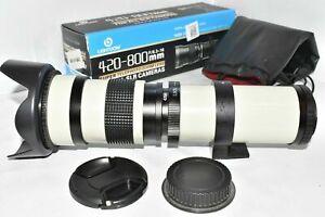 Canon EOS DSLR DIGITAL fit 420 800mm zoom lens 1200D 1300D 2000D 4000D + more ++