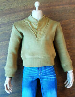 1/6 Male Dark Yellow Sweater Model Toy Clothe Fit 12inches Action Figure Toy