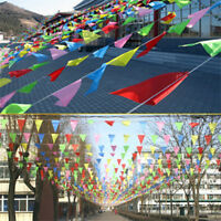 80M Triangle Flags Bunting Banner Pennant Festival Wedding Party Decor AY