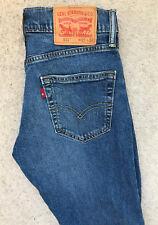 Levis 511 Slim Fit Denim Jeans! da UOMO W29/L32 BLU SCURO!!! Dritta Skinny!
