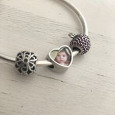 Love Heart Photo Bracelet Charm / Bead - Personalised Pandora Charms Xmas Gift