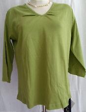 3/4 Arme Damenblusen,-Tops & -Shirts mit V-Ausschnitt ohne Muster für Freizeit