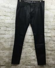 Articles of Society Mya Coated Skinny Jeans Size 28 Black Stretch Denim