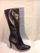 Ecco Black Knee High Leather Boots Size 38