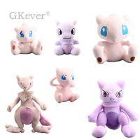 Pokemon Mew & Mewtwo Series Plush Toy Stuffed Animal Doll 5'' - 12'' Teddy Cute