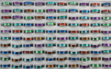 Wholesale Lots 50pcs Mixed Style Colorful Fashion Jewelry Cute Unisex Rings